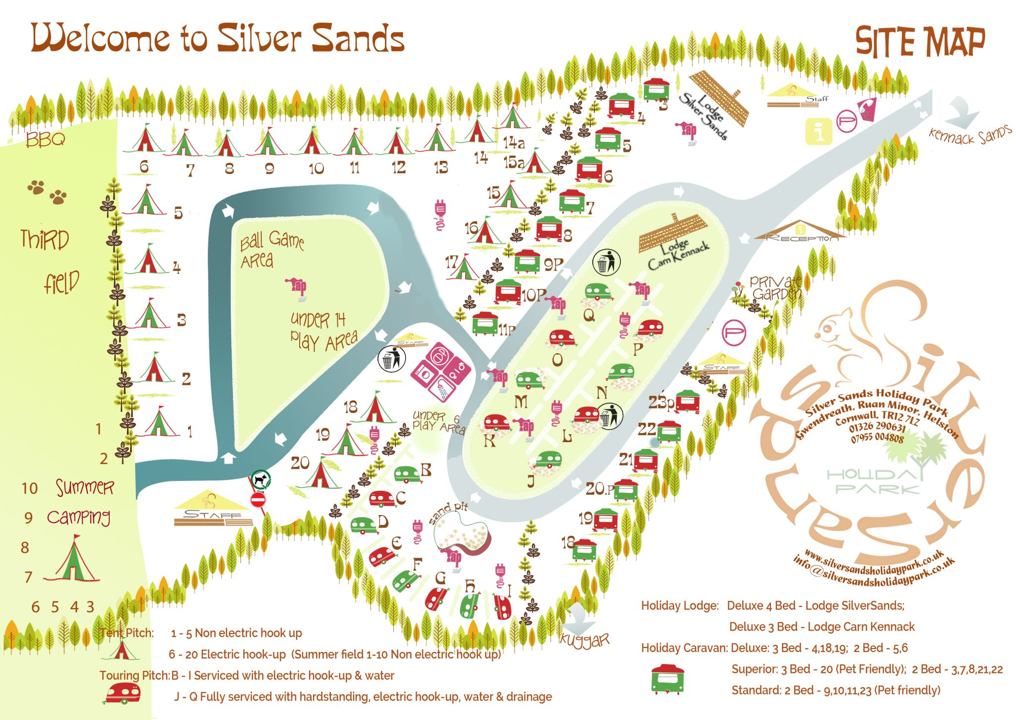 Silver Sands Holiday Park Site Plan 2018
