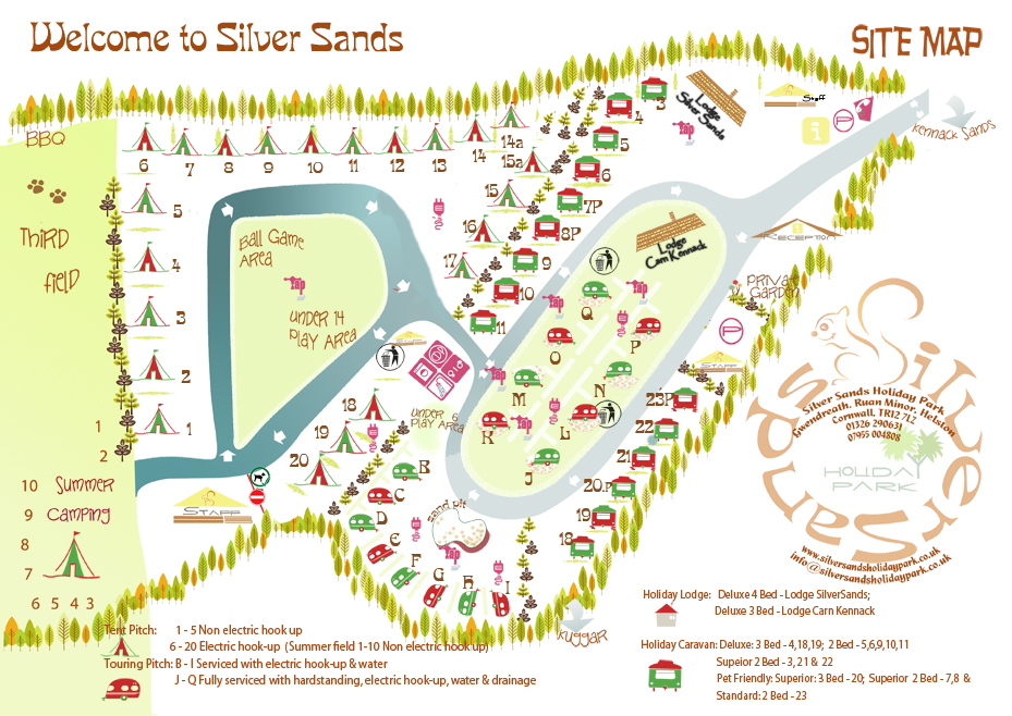 Silver Sands Holiday Park Site Plan 2020